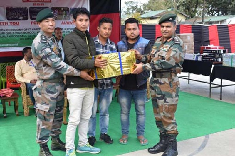 Army provides amenities to schools & sports clubs