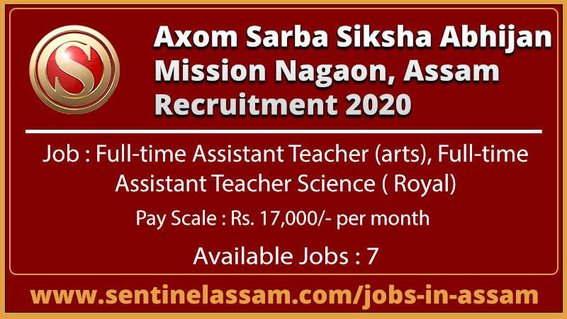 Axom Sarba Siksha Abhijan Mission Nagaon, Assam Recruitment 2020
