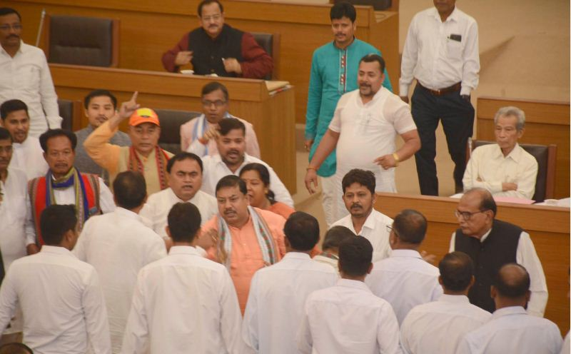 Agitation in Tripura Assembly over 8,000 teacher retrenchment issue