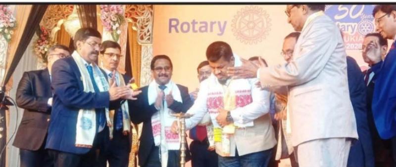 The Rotary Club of Tinsukia celebrated Golden jubilee at Tinsukia