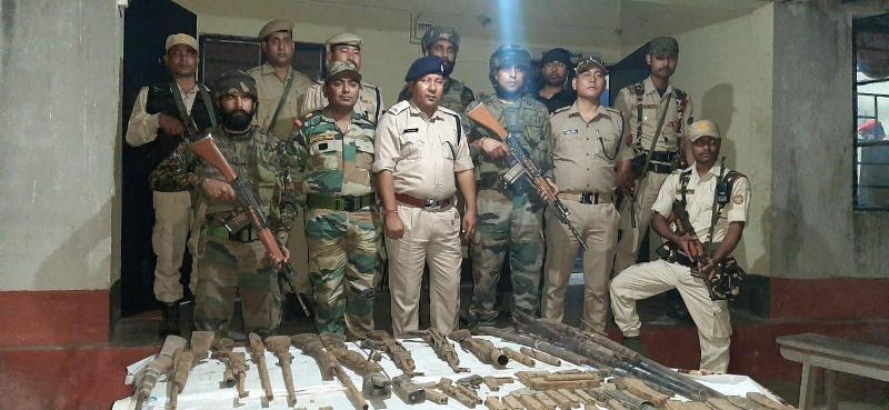 Huge cache of arms and ammunition recovered in Indo-Bhutan border