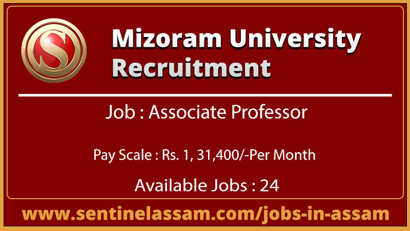 Mizoram University Recruitment for Assistant Professor
