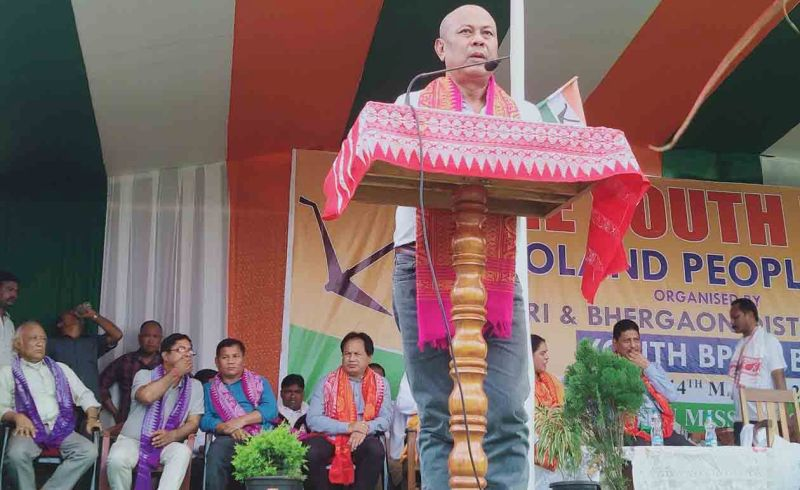 Hagrama Mohilary promises schemes of inclusive growth and development in Tangla