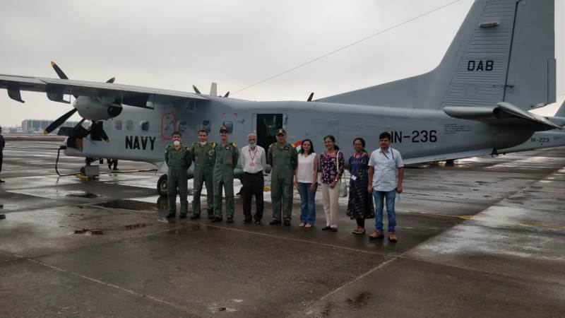Navy Transports Medical Team for COVID-19 Test training in Pune