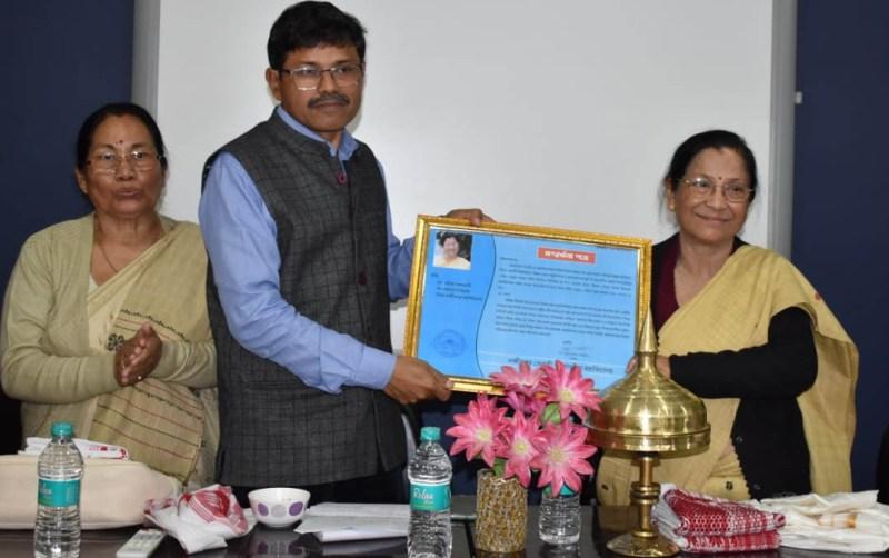 Noted science writer Dr. Amiya Rajbonshi feted by Lakhimpur Telahi Kamalaboria (LTK) College