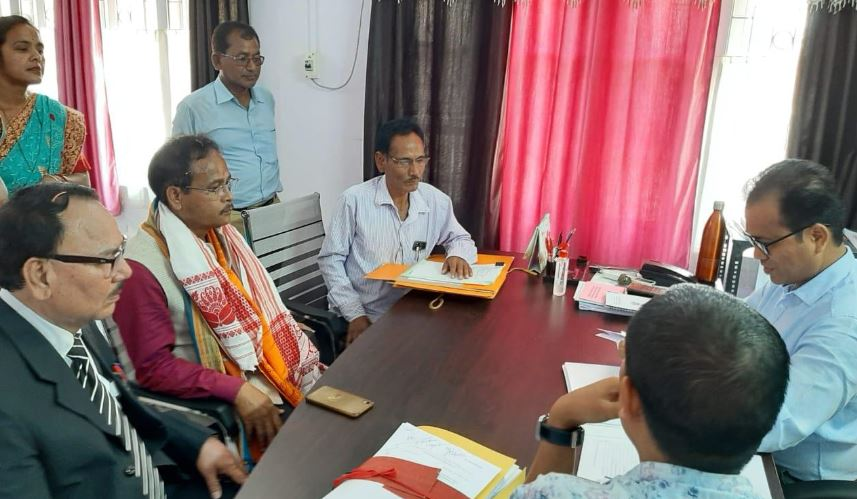 Four candidates in Kajalgaon, 7 in Bijni subdivision file nomination papers for BTC Polls