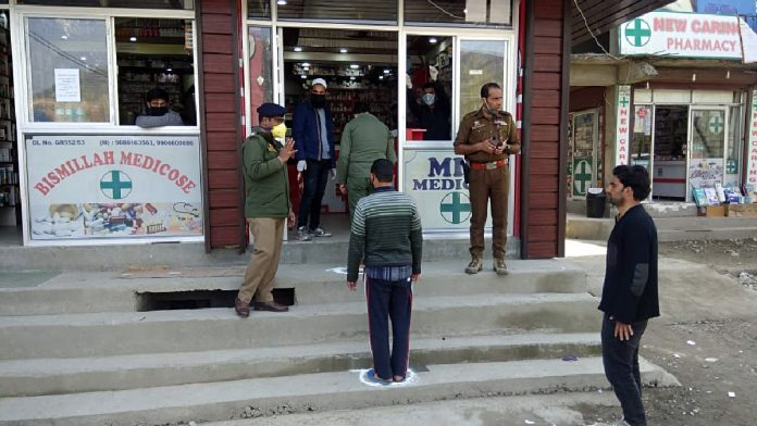 Pharmacies & groceries come up with creative idea In Golaghat
