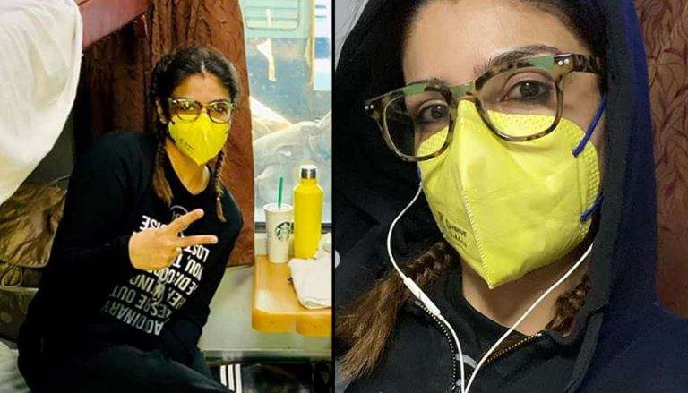Raveena Tandon cleans train cabin: Better to be safe than sorry