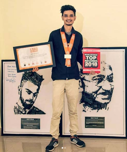 Rahul Pareek of Assam enters Asia Book of Records for creating art with mechanical parts