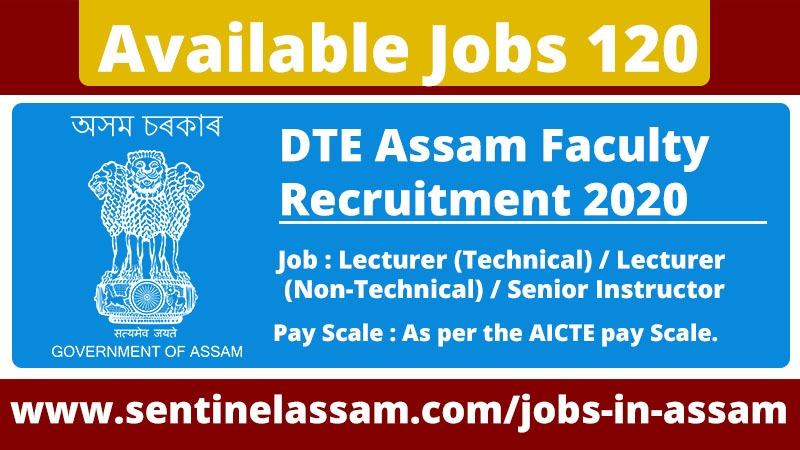 Director of Technical Education, Assam. Recruitment 2020