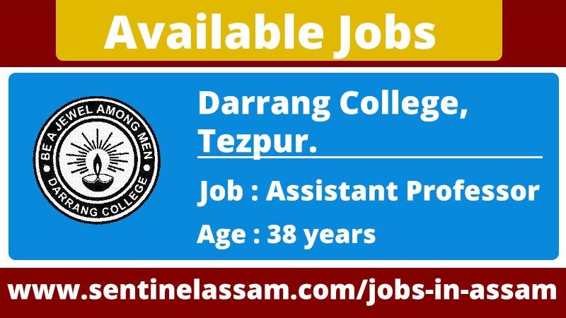 Darrang College, Tezpur Recruitment 2020