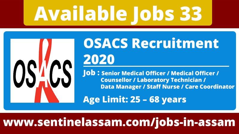 Orissa State AIDS Control Society (OSACS) Recruitment 2020