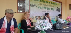 UK based wildlife organization attends 'Rhino Goes to School' programme in Kaziranga