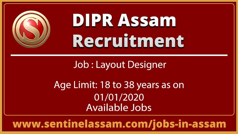 DIPR Assam Recruitment 2020