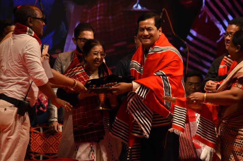 CM Sarbananda Sonowal attends closing function of 7th Mising Youth Festival in Majuli