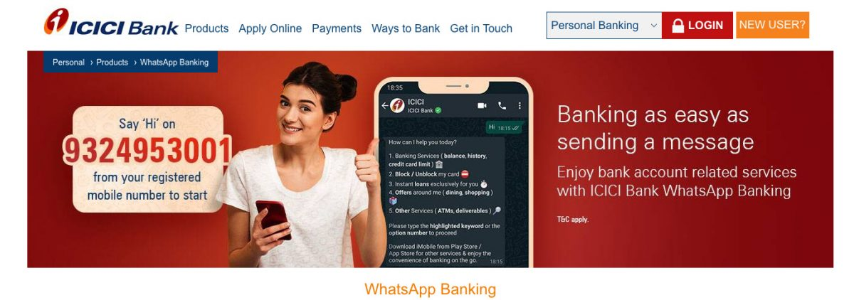ICICI launches WhatsApp services for customers amid lockdown due to COVID-19 pandemic