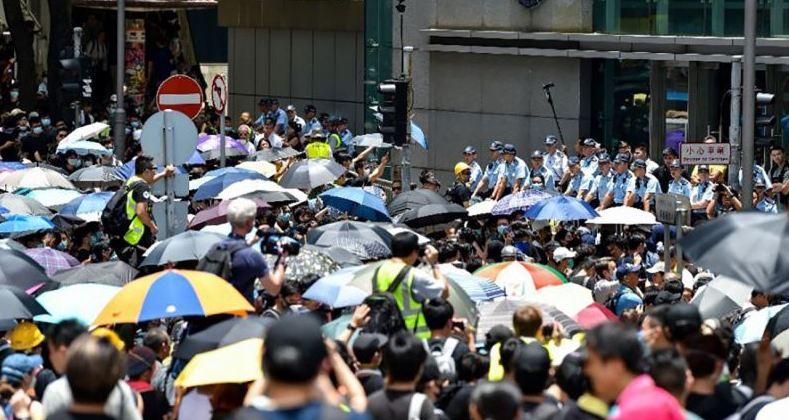 Hong Kong anti-govt protest led to arrest of 115 people