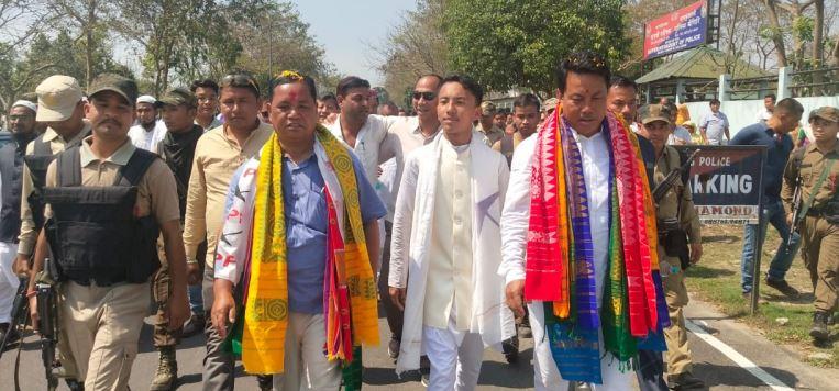 BPF candidates K Borgoyari and P Brahma file nomination papers in Chirang