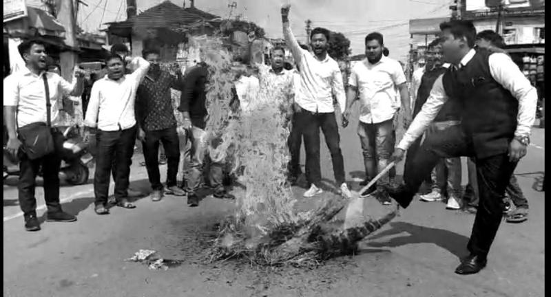 AASU protests encroachment of Assam land in Lakhimpur