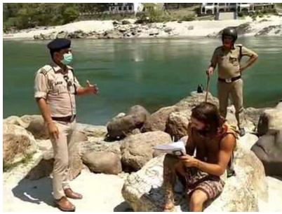 Foreigners found near Ganga, Rishikesh amid lockdown asked to write, I am sorry, 500 times
