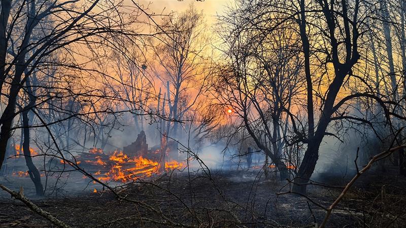 Forest fire near Chernobyl nuke plant spikes radiation levels