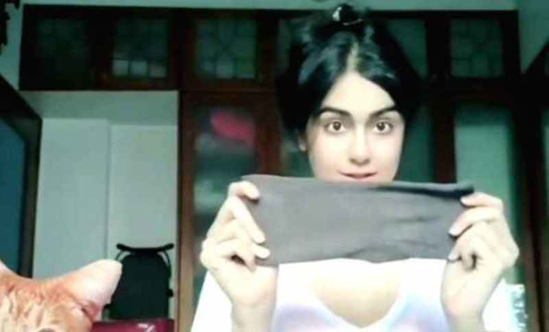 Adah Sharma gives tutorial on how to masks at home