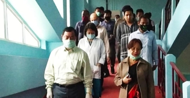 HAD Minister Sum Ronghang visits Haflong to review COVID-19 preparedness