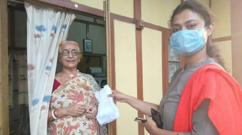 Hailakandi district administration at doorsteps of elderly during lockdown