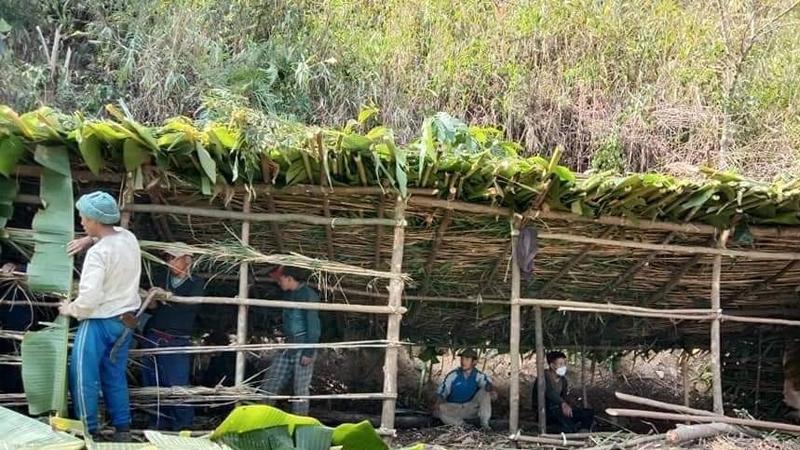 COVID-19 prevention: Villagers construct eco-friendly quarantine hut in Dima Hasao