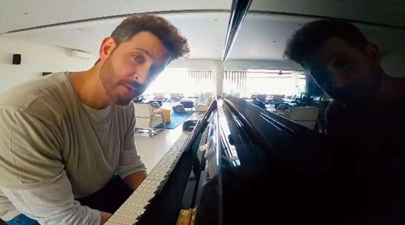 Bollywood actor Hrithik Roshan hones piano skills