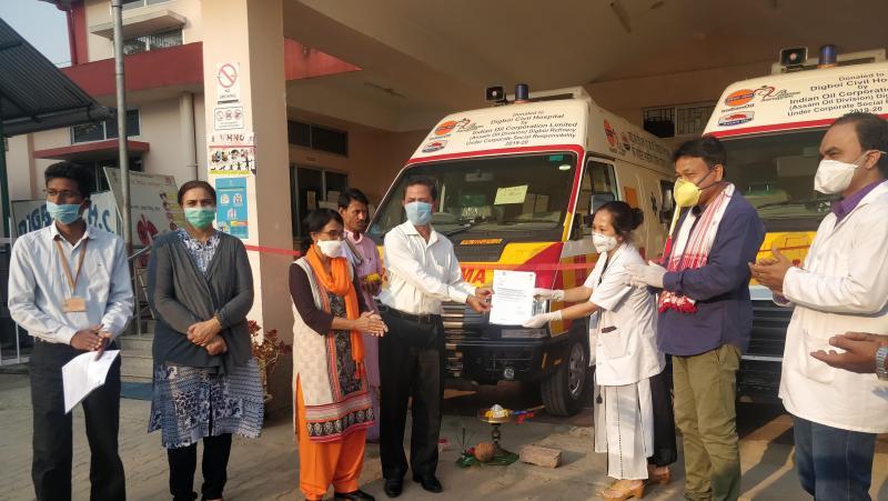 IOCL (AOD) Digboi Refinery donates two ambulances to Digboi Civil Hospital