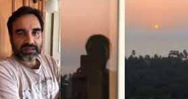 Actor Pankaj Tripathi gets time to watch the sunset