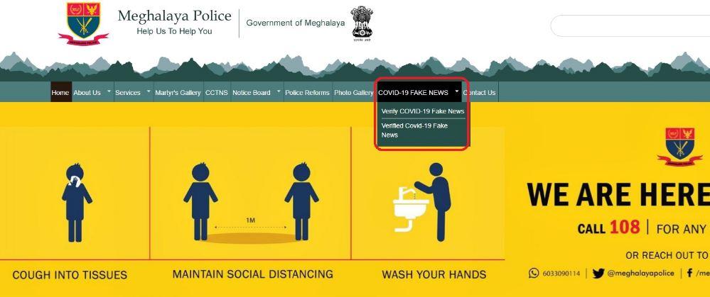 Meghalaya Police launched COVID-19 fake news verification portal