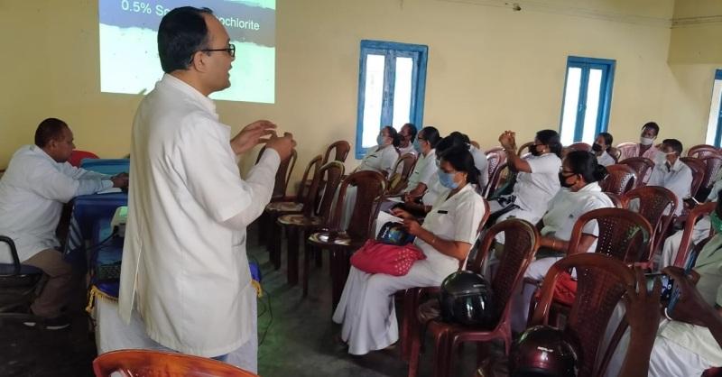 Demow Block Primary Health Centre imparts training to tea estates' health staff