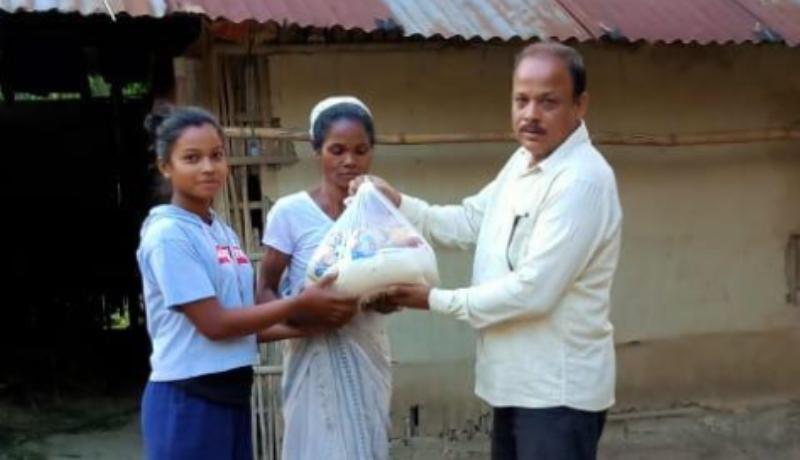 Udalguri Arya Samaj distributes ration to 40 poor families