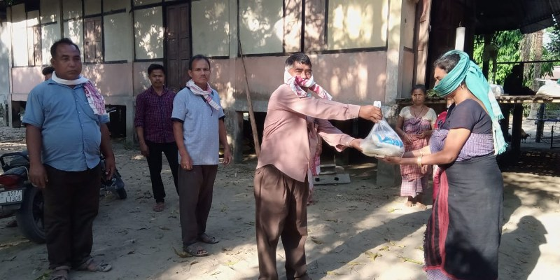 Many pitch in to help low-income families across Lakhimpur