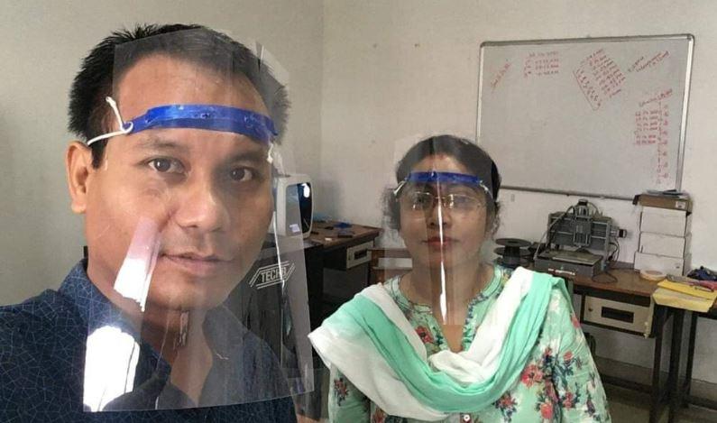 Tezpur University develops face shields for medical staff in the fight against coronavirus